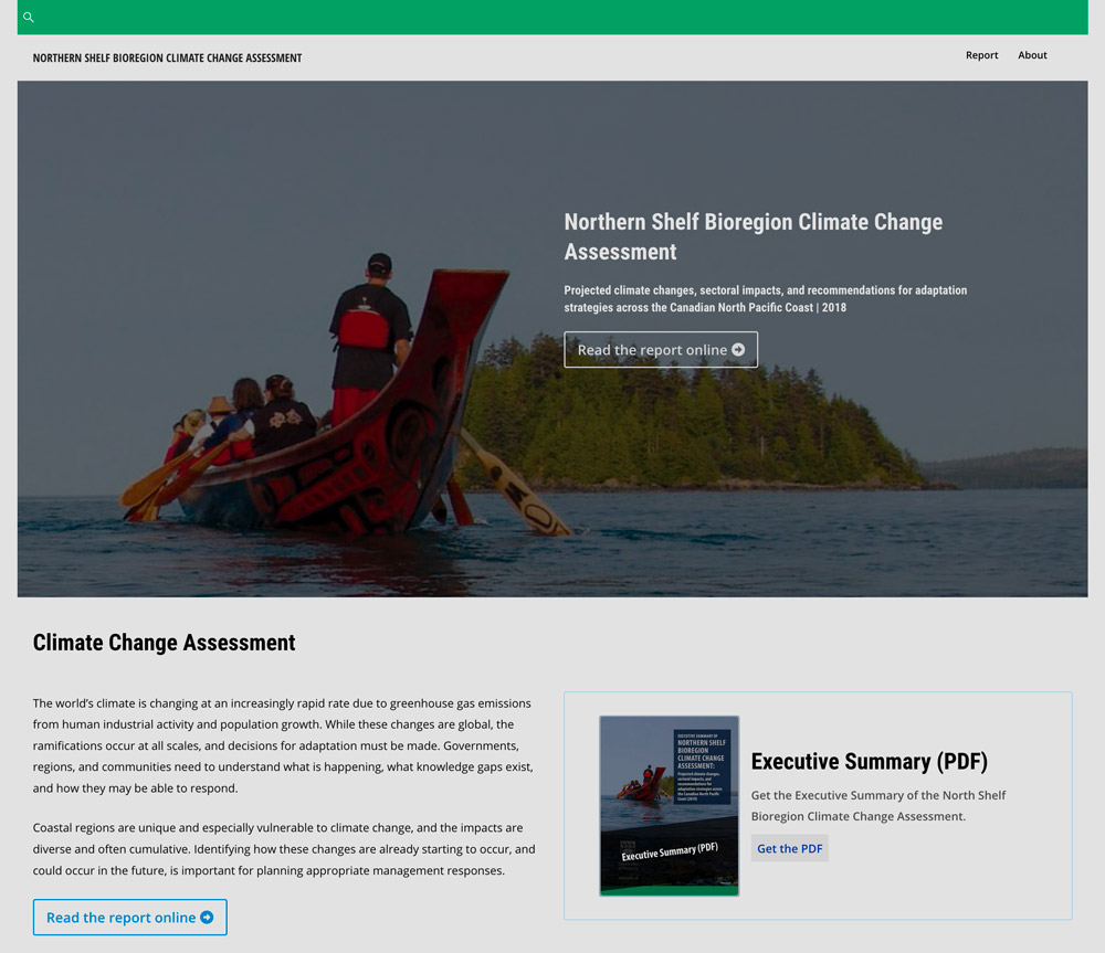 Northern Shelf Bioregion Climate Change Assessment, cover image.